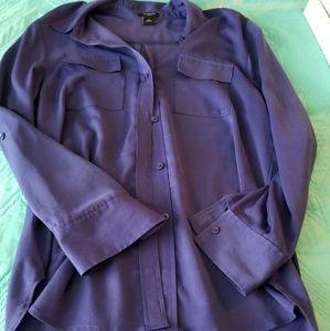 Ann Taylor Factory Purple Dress Shirt S